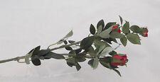 """3~MINI SILK ROSE SPRAY  23 1/2""""~RED~CRAFTS ,WEDDING,WREATH ARRANGEMENTS"""
