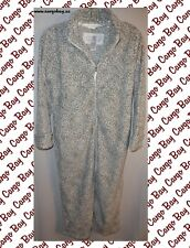 NEW MISSES SNOW LEOPARD OSCAR DE LA RENTA ROBE S/M BATHROBE SMALL MEDIUM