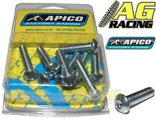 Apico 10mm Button Head Allen Bolt M6x25mm 10 Pack Motocross Enduro Carbon Steel