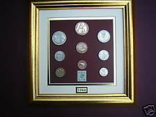 FRAMED 1944 BRITISH COINAGE SET 74th  BIRTHDAY GIFT IN 2018