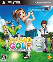Used PS3 Everybody's GOLF 6 PLAYSTATION 3 SONY JAPAN JAPANESE IMPORT