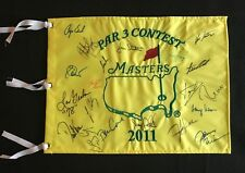 THE MASTERS PAR 3 CONTEST WINNERS SIGNED PIN FLAG 21 AUTOGRAPHS JSA LOA