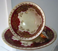 Vintage Ucagco Cup & Saucer ,Japan Royal Gold & Burgundy