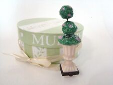 Mud Pie Porcelain Hinged Box - Hydrangea Topiary Trinket Treasure Box