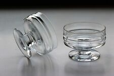 Pair of Ripple Footed Dessert Bowl Glass, Timo Sarpaneva, Pisararengas Iittala