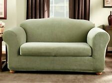 Sure Fit Stretch pin Stripe 2-Piece - Sofa Slipcover - Sage green new