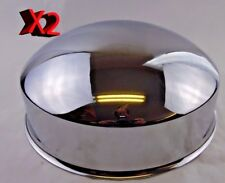 FRONT AXLE COVER w/10 LUG BEAUTY RING, CHROME, FOR STEEL WHEEL (2-PC)