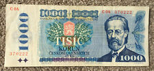 More details for czechoslovakia: 1000 korun banknote from 1985 in fine condition. c04 370222