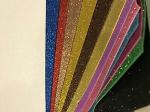 13 Fogli Gomma eva crepla  colori assortiti glitterati schiuma lavoretti