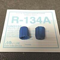 R134a Service Port Cap HI-SIDE FJC#2615 RED Set of 2