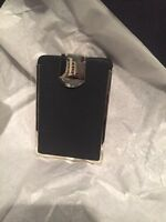 Black Leather Business Card Case NEW