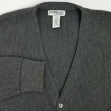 Penguin Sport Mens Cardigan Sweater Size XL Gray 100% Acrylic