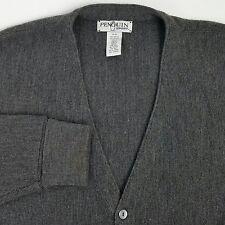 Penguin Sport Mens Cardigan Sweater Size XL Gray 100% Acrylic