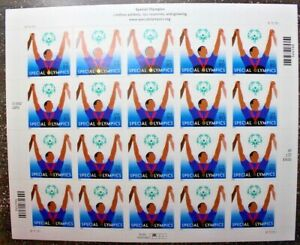 Stamp Sheet #3771 SPECIAL OLYMPICS 2003 MNH Down Syndrome Athlete Medal CV$32