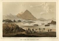 Hong Kong Harbor East Point Workers Ships 1856 Perry Expedition litho view print