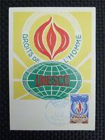 FRANCE MK 1971 UNESCO MAXIMUMKARTE CARTE MAXIMUM CARD MC CM c3967