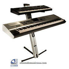 Ultimate Support AX48 Pro Silver Keyboard Stand
