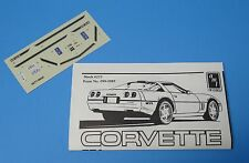 AMT/ERTL 1990 Corvette ZR1 Decals, Instructions 1/25 Scale