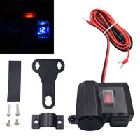 Motorcycle-Cigarette Lighter Socket Outlet Dual USB Charger LED Voltmeter&Switch