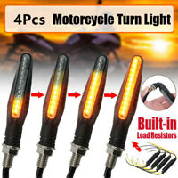 4X 12LED Motorcycle Flowing Turn Signal Indicator/Running Lights Amber lamps 12V
