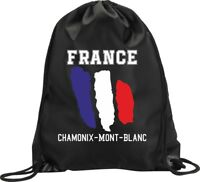 BACKPACK BAG CHAMONIX MONT BLANC FRANCE GYM HANDBAG FLAG SPORT