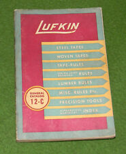 Vintage Lufkin Rule Co Tapes Rules Tools Tool CATALOG Collectors MUST L@@K