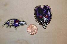 Baltimore Ravens 2 Patches 1999-Present Alternate & Primary Logo Football