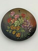 San Remo Handcrafted Hand Painted Decorative Pottery Plate w/Flowers