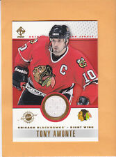 2001 PRIVATE STOCK GAME USED JERSEY #20 TONY AMONTE CHICAGO BLACKHAWKS