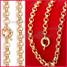 18K GOLD FILLED VINTAGE BELCHER CHAIN RING LINK SOLID WOMENS LADY CHARM NECKLACE
