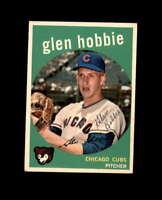 Glen Hobbie Hand Signed 1959 Topps Chicago Cubs Autograph