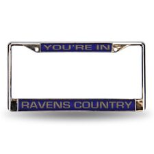 Baltimore Ravens Country NFL Chrome Metal Laser Cut License Plate Frame