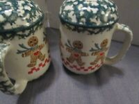 Folkcraft by Tienshan Ginger bread salt and pepper set ~EUC~