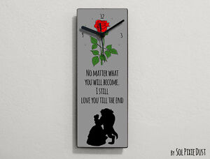 Beauty and the Beast - No matter what you will become ... - Wall Clock