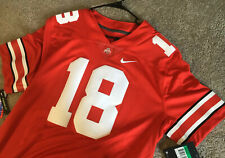 NWT NIKE NCAA Ohio State University Buckeyes #18 Football Jersey See Description