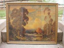 UNSIGNED VINTAGE FRAMED ART PRINT 1940'S
