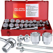 """27pcs Extra Large 3/4"""" Drive Metric & Imperial Wrench Socket Set for Car Truck L"""