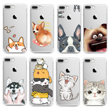 Cute Animals Transparent Slim TPU Back Case Cover For iPhone X 8 7 6 Plus Huawei
