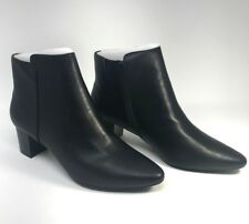 Rockport Women's Caden 2-Part Ankle Booties Size 9M Black Boots Heels Point NIB
