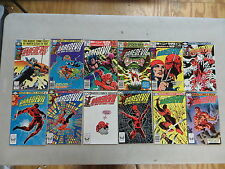 DAREDEVIL 12 ISSUE BRONZE COMIC RUN 166-191 MARVEL FRANK MILLER ELEKTRA