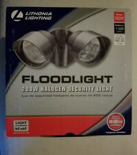Lithonia Lighting 2 Head-Lamp 200W  Halogen Security Outdoor Bronze Floodlight.