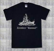 Marine-Shirt, Zerstörer, Rommel, Lütjens,  Baumwolle