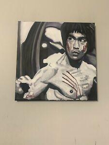 Bruce Lee Martial Artist Movie 18x18  Pop Art Painting Chris Cargill