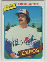 1980 Topps Baseball Montreal Expos Team Set