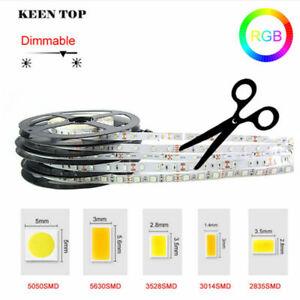 5M SMD 300 600 LED 2835 5050 5054 5630 Waterproof Flexible LED Strip Light 12V