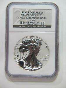 AMERICAN EAGLE 2006 P $1 NGC PF69 20TH ANNIVERSARY REVERSE PROOF COIN 🌈⭐️🌈