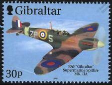 RAF SUPERMARINE SPITFIRE Mk.IIA WWII Aircraft Stamp (2000 Gibraltar)