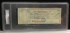 Jake LaMotta Signed Check 1956 Boxing HOF PSA DNA Raging Bull Stocking Stuffer