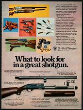 1975 SMITH & WESSON Model 1000 Shotgun AD Vintage Gun Advertising