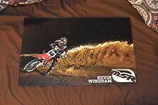 KEVIN WINDHAM #14  *Signed MSR 11x17 Racing POSTER  -SUPERCROSS